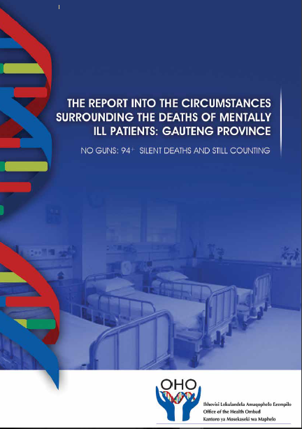 Report into the circumstances surrounding the deaths of mentally ill patients: Gauteng Province